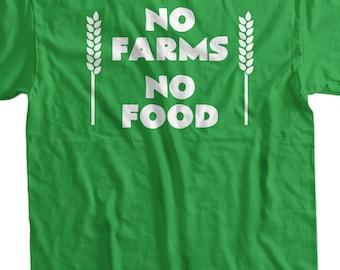 Activist Farming T-shirt Farmer Local No Farms No Food T-shirt Gifts for Dad Screen Printed T-Shirt Tee Shirt Mens Ladies Womens Youth Kids