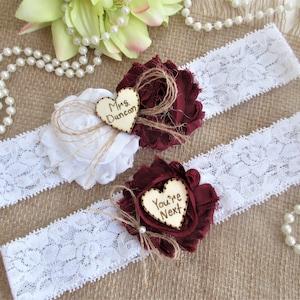 Rustic Wedding Garter Set,Wedding Garters Monogrammed Garter Set Personalized Rustic Wedding Garter Set