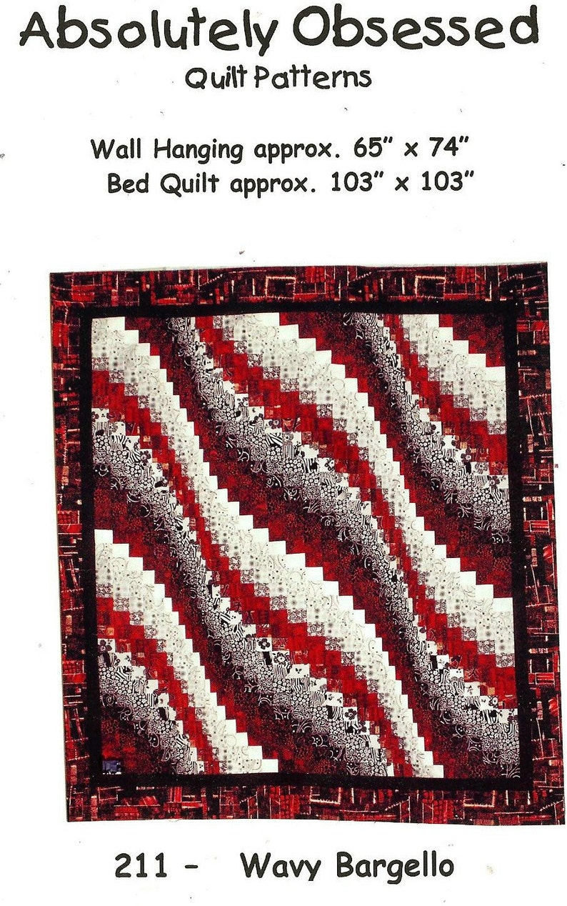 Wavy Bargello Quilt Pattern ONLY