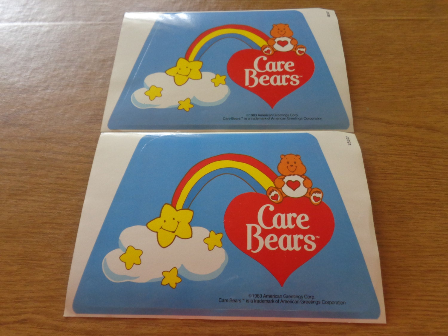 Vintage Care Bears Brand New Decals 1983 American Etsy