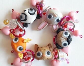 Bug eye bracelet/Beadiebracelet