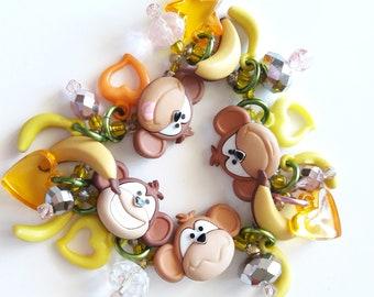 Monkey bracelet/Beadiebracelet