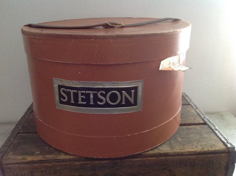 66d4f8bc00d839 Vintage 1960s STETSON Hat Box Vintage hat box vintage | Etsy