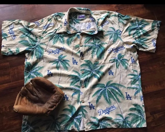 Reyn Spooner Hawaiian Dodgers Shirt