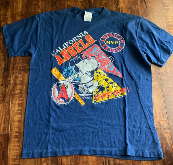 Retro 90s CALIFORNIA Angels / Snoopy MVP tee