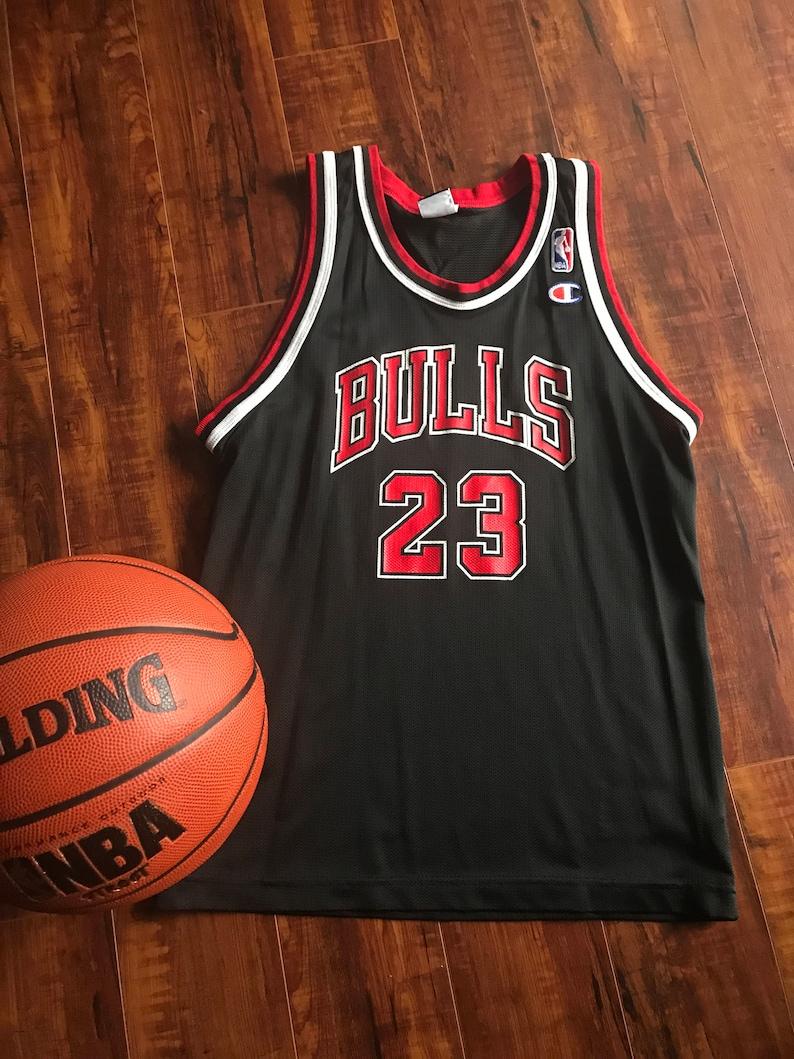 best service ad1c1 21b5c Retro Champion Chicago Bulls Jersey ~ Michael Jordan #22 Champion Jersey  LYouth