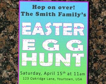 Easter Egg Hunt Party Invite