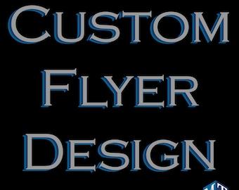 Custom Printable Flyer Design PTO Flyers Party Online Event