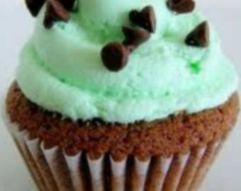 Mint Chocolate Chip Cupcakes 'In a Jar'