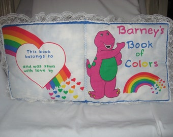 BARNEYS BOOK of COLORS Childrens Cloth Pillow Book