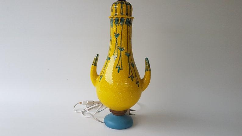 Rare Mancioli Pottery Lampbase Italy circa 1960s image 0