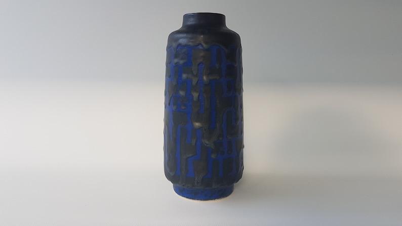 Deep Blue VEB Haldensleben Fat Lava vase image 0