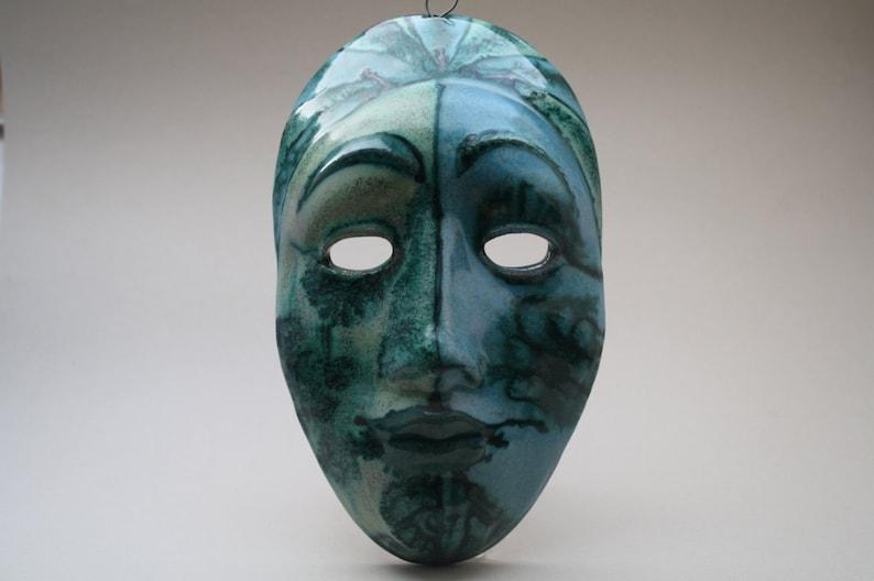 very rare Italian SKK Schiavon ceramic mask image 0