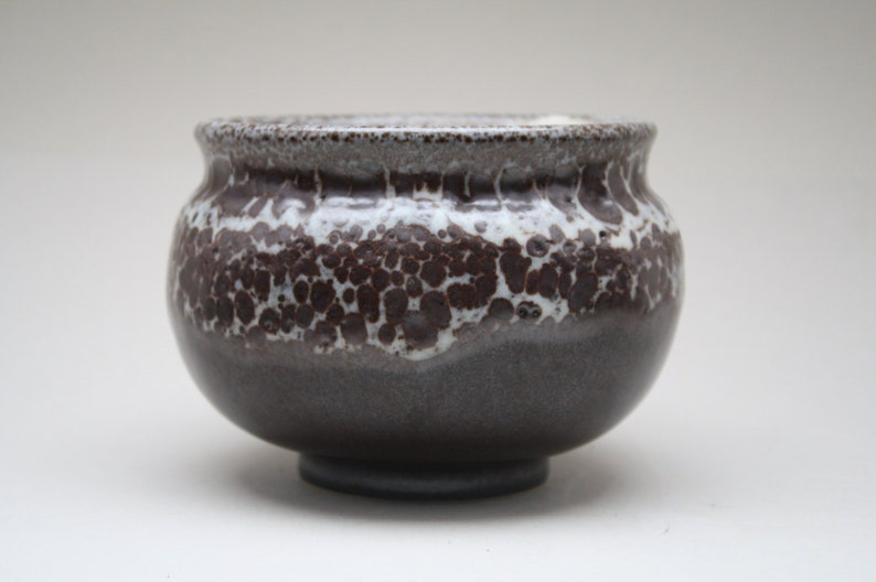 Otto Wichmann dark brown Lava glazed Studio vase image 0