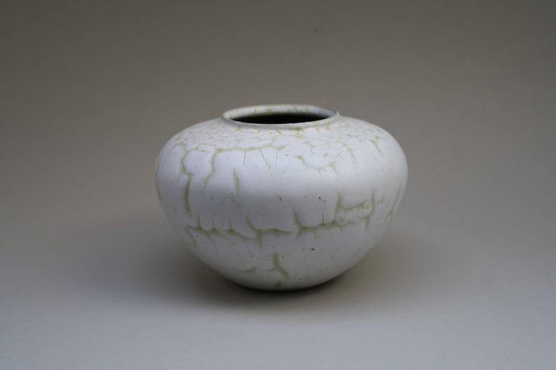 Albert Kiessling studio vase with a 'Snakeskin' glaze image 0
