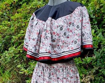 Native American Muskogee Made Regalia Ribbon Skirt and Cape