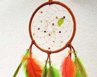 Native American Green Lucky Leaf Dreamcatcher