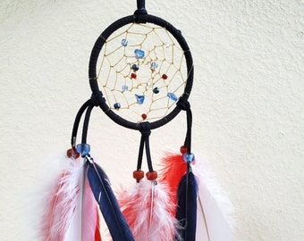 Native American Red, White and Blue Dreamcatcher