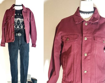 90s Clothing Women VINTAGE Clothing Vintage DENIM JACKET Women Vintage Jean Jacket Women 90s Grunge Clothing 90s Clothes Vintage Clothes M