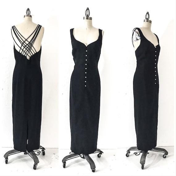 90s Vintage Dress 90s Clothing 90s Dress Black Dre