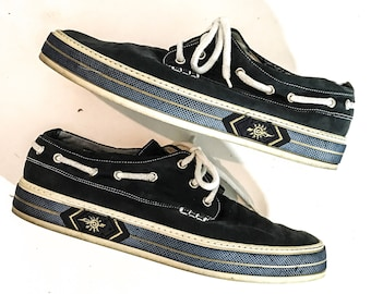 90s Vintage Clothing BALLY SHOES Bally Shoes Men BOAT Shoes Boat Shoes Men Leather Loafers Men Loafers Size 11 Loafers 11 Bally Loafers Us