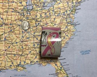 Breast Cancer Support/Awareness Vintage Recycled License Plate Bracelet