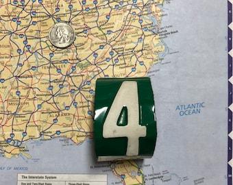 4 Vintage Recycled License Plate Bracelet