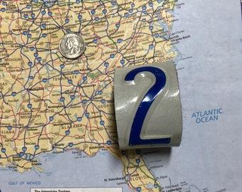 2 Vintage Recycled License Plate Bracelet