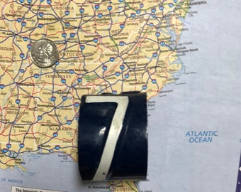 7 Vintage Recycled License Plate Bracelet