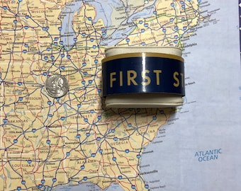 The First State Vintage Recycled License Plate Bracelet