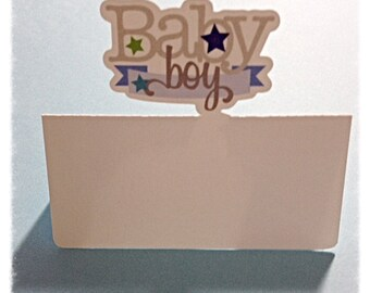 Colorful Baby Boy/Girl Place Card Settings