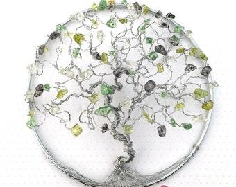 Suncatcher for Windows, Crystal Suncatcher, Tree of Life Hanging, Tree Suncatchers, Beaded Trees, Wire Trees, Hanging Crystal Decor