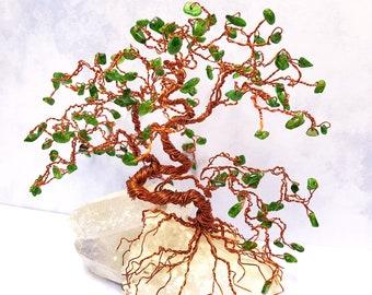 Bonsai Tree Art, Gem Tree, Wire Tree Sculpture, Gemstone Trees, Wire Bonsai Sculpture, Crystal Trees