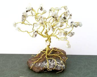 Jasper Gem Tree, Gemstone Tree Sculpture, Cute Desk Accessories, Tree of Life Art