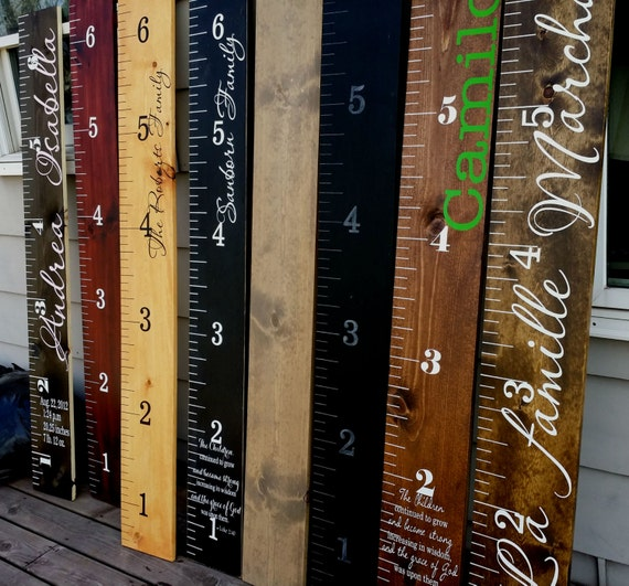 Wooden height chart childrens growth chart giant wooden growth etsy