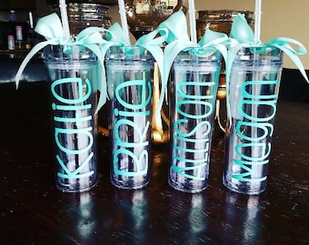 Personalized Tumbler, Bridesmaid Gift, Gift, Team Gift, Tumbler, Personalized Tumbler, Personalized Cup, personalized water bottle