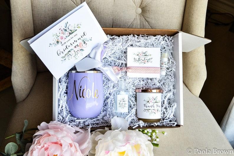 Bridesmaid Box Gifts Bride Gift Box Bridal Party Box Diy Personalized Bridesmaid Gift Box Set Wine Tumbler Gift Set