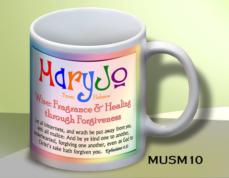 Lovely Personalized Name Meaning Coffee Mugs: ANY name, ANY design  Add a  personal inscription and a bookmark!
