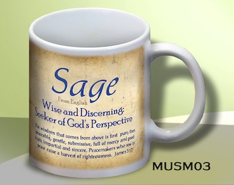 Name Meaning Coffee Mugs: Personalize Manly designs Any Name!  (Plus, add an inscription to the back.)