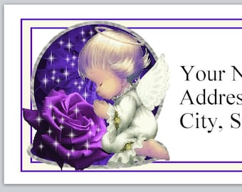 30 Custom Rose Angel Personalized Address Labels