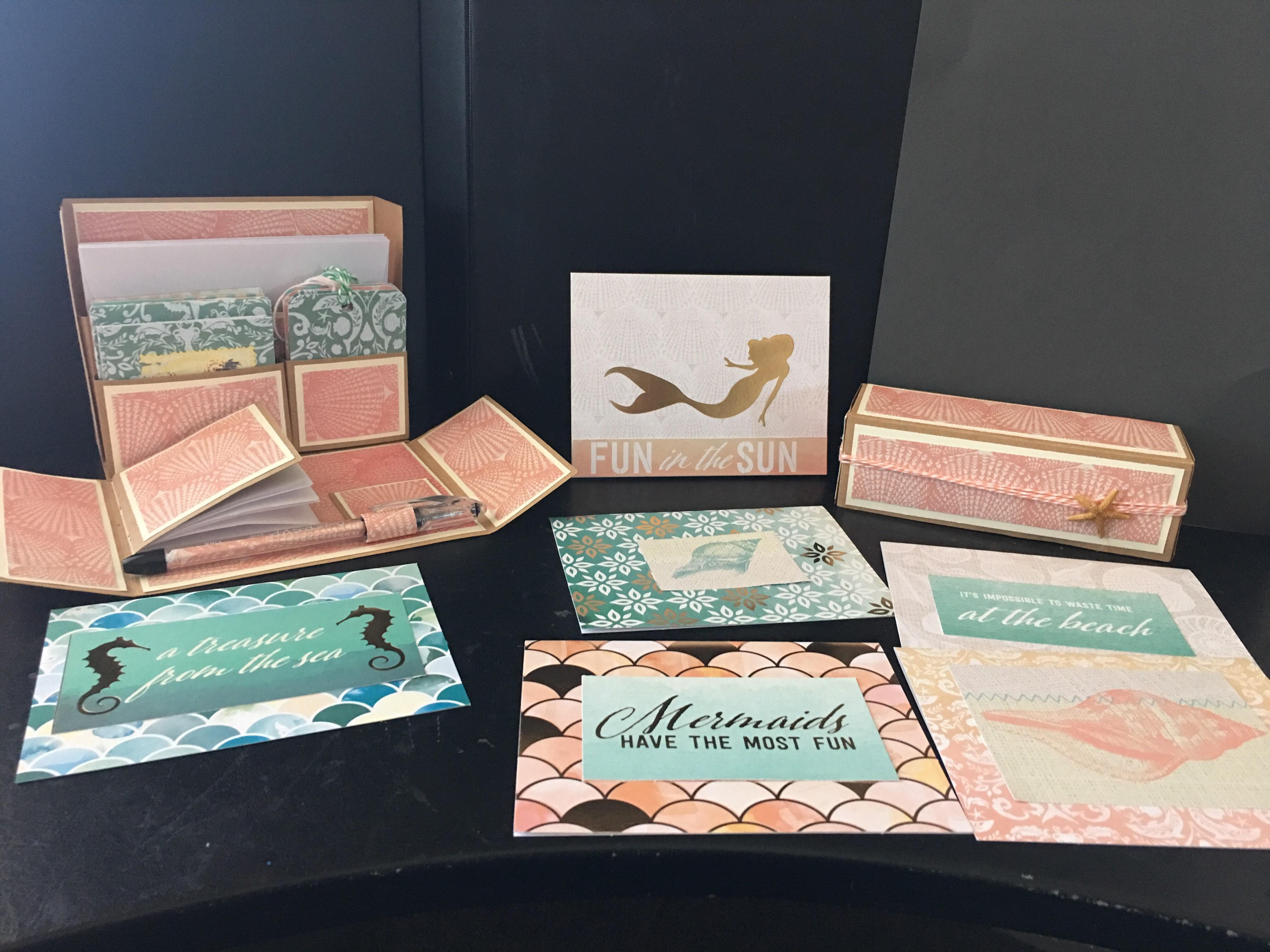 beach themed stationery box set