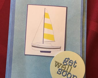 Sail boat get well soon