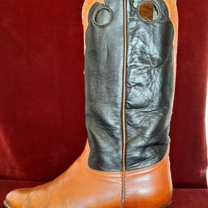 8 D Mannen Laramie Tan Buckaroo Western laarzen ronde teen