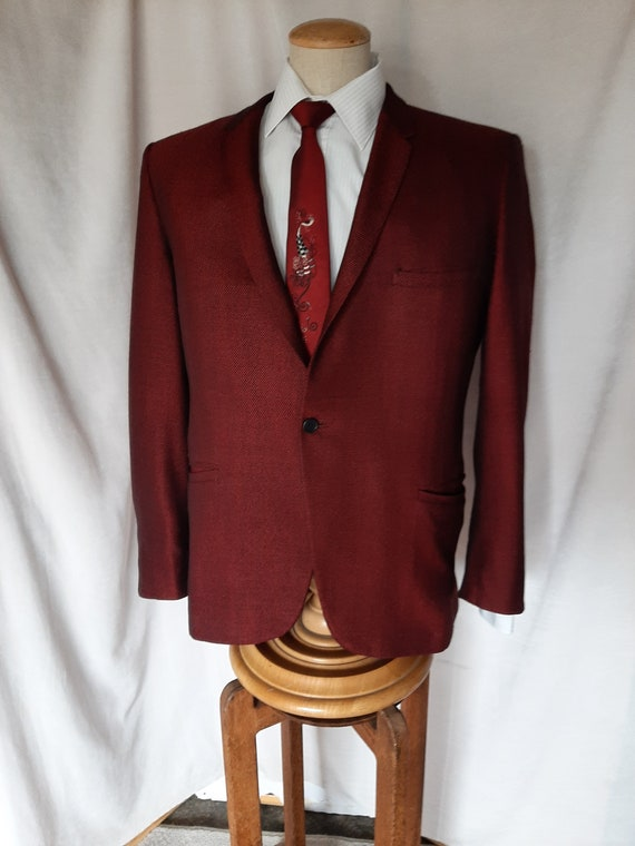 A Batton Lash Collection 1960s Red Evening Jacket