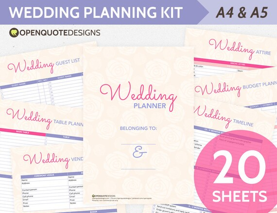 printable wedding timeline checklist