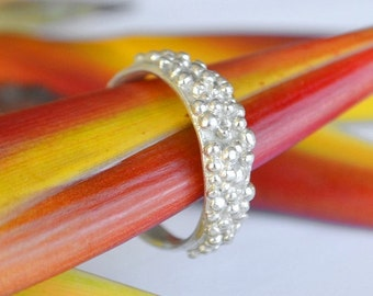 Galaxy Ball Ring in Sterling Silver - Stack Rings - Handmade in Australia