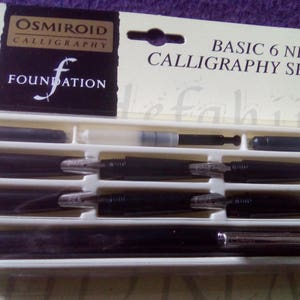 c1983 The Osmiroid Book of Calligraphy For Easy Change Fountain Pen Vintage