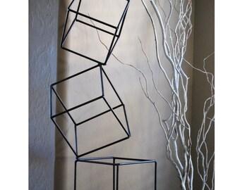 Bon Metal Abstract Art Sculpture Modern Retro Simple Table Decor Contemporary  Geometric Mid Century By Petrykowski Artworks