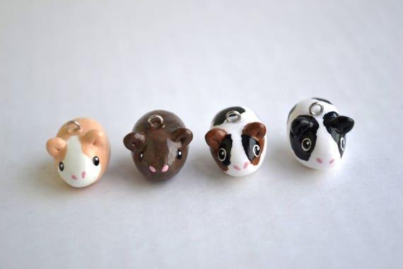 Image of: Doll Image Etsy Guinea Pig Animal Charm Kawaii Polymer Clay Etsy