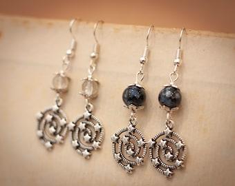 Stargaze Earrings, Galaxy Earrings, Star Christmas Gift, Star Earrings, Special Gift, Dark Matter Earrings